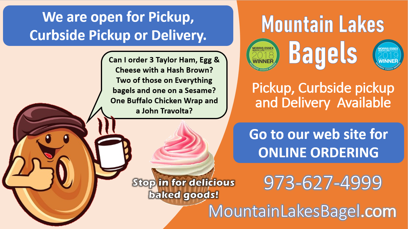 Mountain Lakes bagels graphic